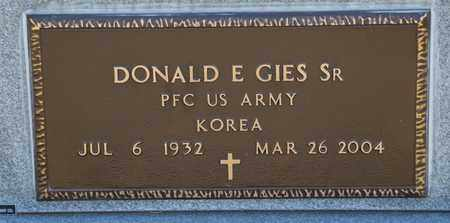 GIES SR, DONALD E - Richland County, Ohio | DONALD E GIES SR - Ohio Gravestone Photos
