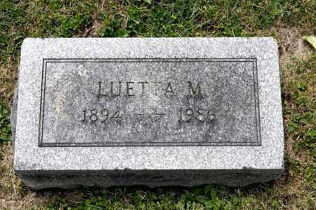 GLOWER, LUETTA M - Richland County, Ohio | LUETTA M GLOWER - Ohio Gravestone Photos