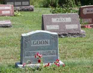 GOON, SOLOMON - Richland County, Ohio | SOLOMON GOON - Ohio Gravestone Photos