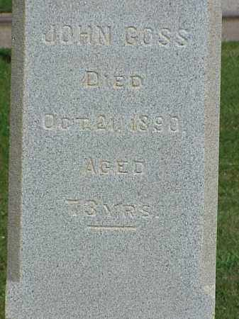 GOSS, JOHN - Richland County, Ohio | JOHN GOSS - Ohio Gravestone Photos