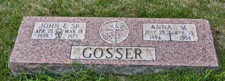 GOSSER SR, JOHN E - Richland County, Ohio | JOHN E GOSSER SR - Ohio Gravestone Photos