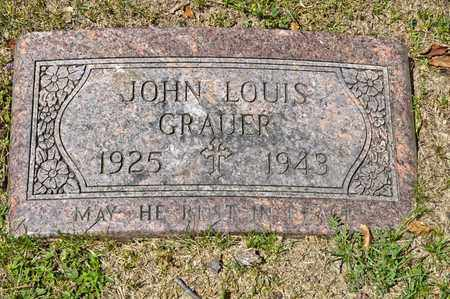 GRAUER, JOHN LOUIS - Richland County, Ohio | JOHN LOUIS GRAUER - Ohio Gravestone Photos