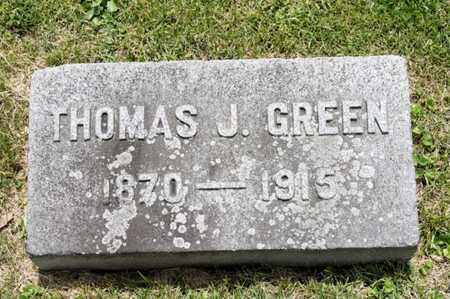 GREEN, THOMAS J - Richland County, Ohio | THOMAS J GREEN - Ohio Gravestone Photos