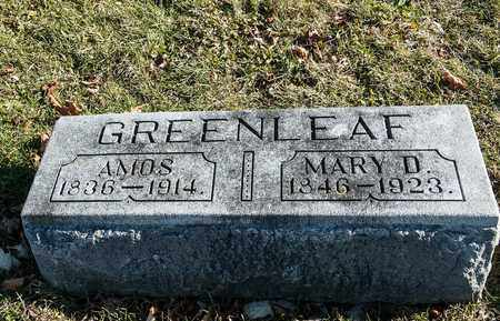 GREENLEAF, AMOS - Richland County, Ohio | AMOS GREENLEAF - Ohio Gravestone Photos