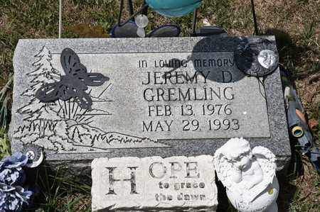 GREMLING, JEREMY D - Richland County, Ohio   JEREMY D GREMLING - Ohio Gravestone Photos