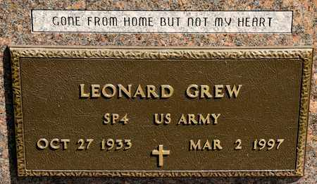 GREW, LEONARD - Richland County, Ohio | LEONARD GREW - Ohio Gravestone Photos