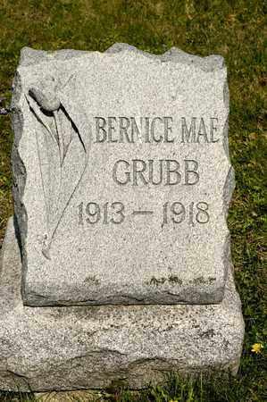 GRUBB, BERNICE MAE - Richland County, Ohio | BERNICE MAE GRUBB - Ohio Gravestone Photos