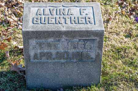 GUENTHER, ALVINA F - Richland County, Ohio | ALVINA F GUENTHER - Ohio Gravestone Photos