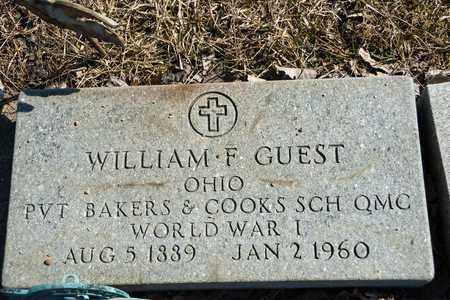 GUEST, WILLIAM F - Richland County, Ohio | WILLIAM F GUEST - Ohio Gravestone Photos
