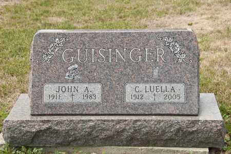 GUISINGER, JOHN A - Richland County, Ohio | JOHN A GUISINGER - Ohio Gravestone Photos