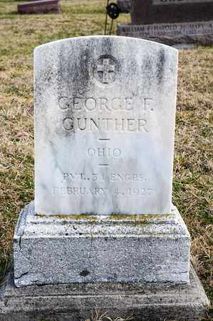 GUNTHER, GEORGE F - Richland County, Ohio | GEORGE F GUNTHER - Ohio Gravestone Photos