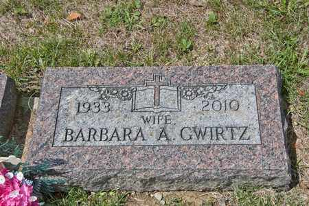 GWIRTZ, BARBARA A - Richland County, Ohio | BARBARA A GWIRTZ - Ohio Gravestone Photos