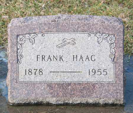 HAAG, FRANK - Richland County, Ohio | FRANK HAAG - Ohio Gravestone Photos