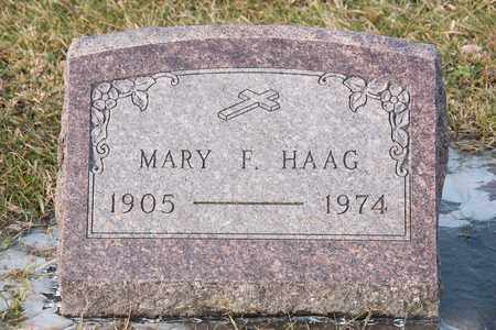 HAAG, MARY F - Richland County, Ohio | MARY F HAAG - Ohio Gravestone Photos