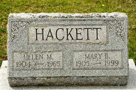 HACKETT, MARY B - Richland County, Ohio | MARY B HACKETT - Ohio Gravestone Photos