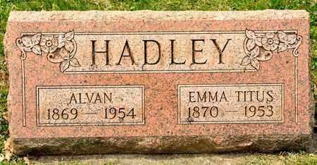 HADLEY, EMMA - Richland County, Ohio | EMMA HADLEY - Ohio Gravestone Photos