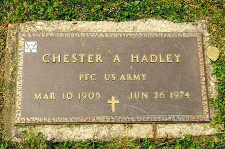 HADLEY, CHESTER A - Richland County, Ohio | CHESTER A HADLEY - Ohio Gravestone Photos