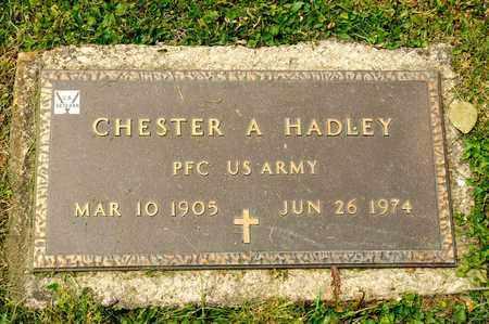 HADLEY, CHESTER A - Richland County, Ohio   CHESTER A HADLEY - Ohio Gravestone Photos