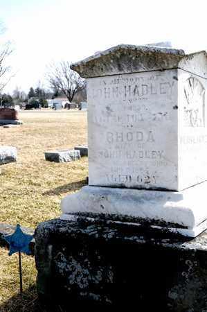 HADLEY, JOHN - Richland County, Ohio | JOHN HADLEY - Ohio Gravestone Photos