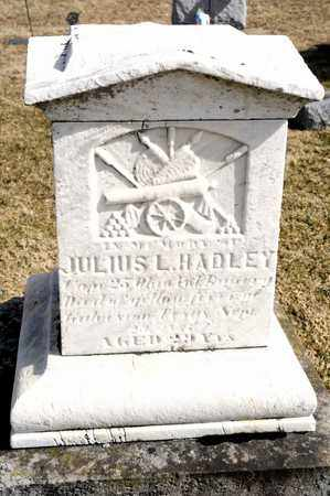 HADLEY, JULIUS L - Richland County, Ohio | JULIUS L HADLEY - Ohio Gravestone Photos