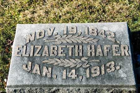 HAFER, ELIZABETH - Richland County, Ohio | ELIZABETH HAFER - Ohio Gravestone Photos