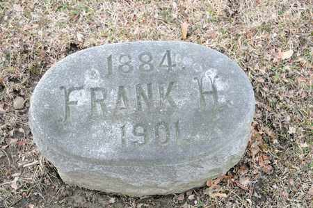 HAFER, FRANK H - Richland County, Ohio | FRANK H HAFER - Ohio Gravestone Photos