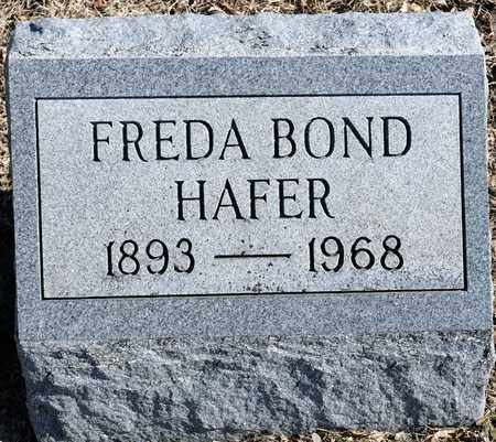 BOND HAFER, FREDA - Richland County, Ohio | FREDA BOND HAFER - Ohio Gravestone Photos