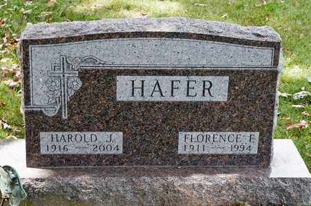 HAFER, FLORENCE F - Richland County, Ohio | FLORENCE F HAFER - Ohio Gravestone Photos