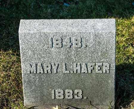 HAFER, MARY L - Richland County, Ohio | MARY L HAFER - Ohio Gravestone Photos