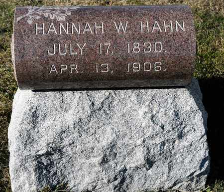 HAHN, HANNAH W - Richland County, Ohio | HANNAH W HAHN - Ohio Gravestone Photos