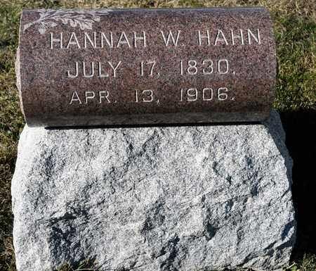 HAHN, HANNAH W - Richland County, Ohio | HANNAH W HAHN - Ohio Gravestone Photos