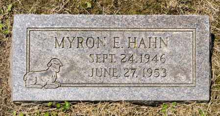 HAHN, MYRON E - Richland County, Ohio | MYRON E HAHN - Ohio Gravestone Photos