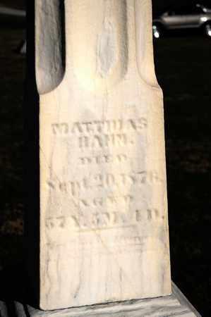 HAHN, MATTHIAS - Richland County, Ohio   MATTHIAS HAHN - Ohio Gravestone Photos