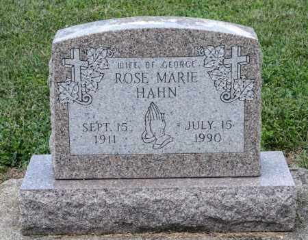 HAHN, ROSE MARIE - Richland County, Ohio | ROSE MARIE HAHN - Ohio Gravestone Photos