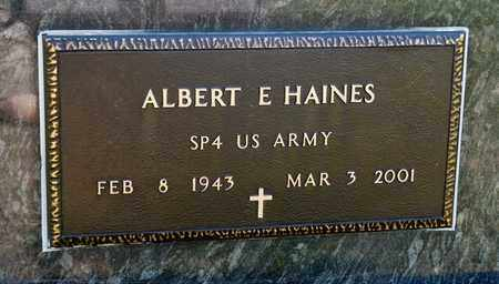 HAINES, ALBERT E - Richland County, Ohio | ALBERT E HAINES - Ohio Gravestone Photos