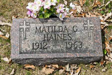 HAINES, MATILDA G - Richland County, Ohio | MATILDA G HAINES - Ohio Gravestone Photos