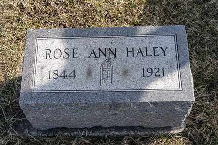 HALEY, ROSE ANN - Richland County, Ohio | ROSE ANN HALEY - Ohio Gravestone Photos