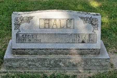 HALL, INEZ B - Richland County, Ohio | INEZ B HALL - Ohio Gravestone Photos
