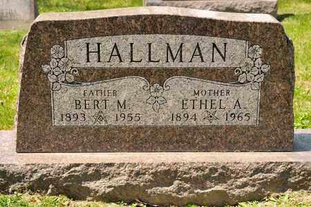 HALLMAN, ETHEL A - Richland County, Ohio | ETHEL A HALLMAN - Ohio Gravestone Photos