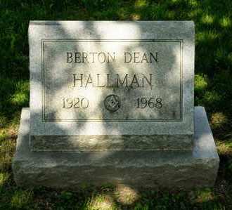 HALLMAN, BERTON DEAN - Richland County, Ohio | BERTON DEAN HALLMAN - Ohio Gravestone Photos