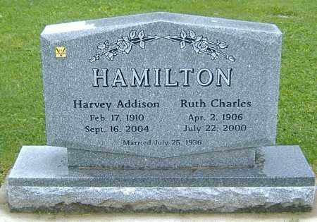 CHARLES HAMILTON, RUTH BERTHA - Richland County, Ohio | RUTH BERTHA CHARLES HAMILTON - Ohio Gravestone Photos