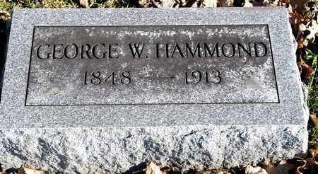HAMMOND, GEORGE W - Richland County, Ohio | GEORGE W HAMMOND - Ohio Gravestone Photos