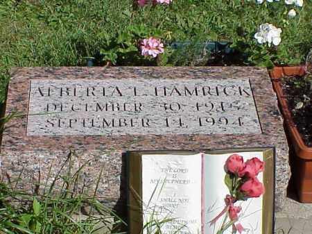 HAMRICK, ALBERTA - Richland County, Ohio | ALBERTA HAMRICK - Ohio Gravestone Photos