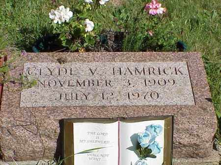 HAMRICK, GLYDE V. - Richland County, Ohio | GLYDE V. HAMRICK - Ohio Gravestone Photos