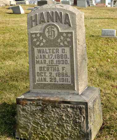 HANNA, BERTHA F - Richland County, Ohio | BERTHA F HANNA - Ohio Gravestone Photos