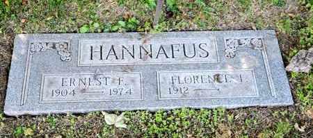 HANNAFUS, ERNEST F - Richland County, Ohio | ERNEST F HANNAFUS - Ohio Gravestone Photos