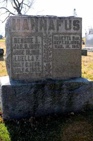 HANNAFUS, VANETTA - Richland County, Ohio | VANETTA HANNAFUS - Ohio Gravestone Photos