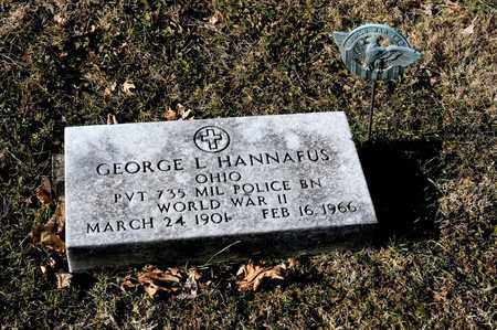 HANNAFUS, GEORGE L - Richland County, Ohio | GEORGE L HANNAFUS - Ohio Gravestone Photos