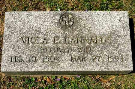 HANNAFUS, VIOLA E - Richland County, Ohio | VIOLA E HANNAFUS - Ohio Gravestone Photos
