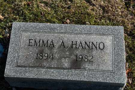 HANNO, EMMA A - Richland County, Ohio | EMMA A HANNO - Ohio Gravestone Photos